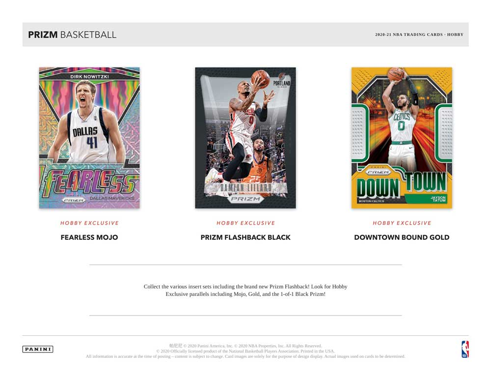 NBA 2020-21 Panini Prizm Basketball Hobby 3/31入荷