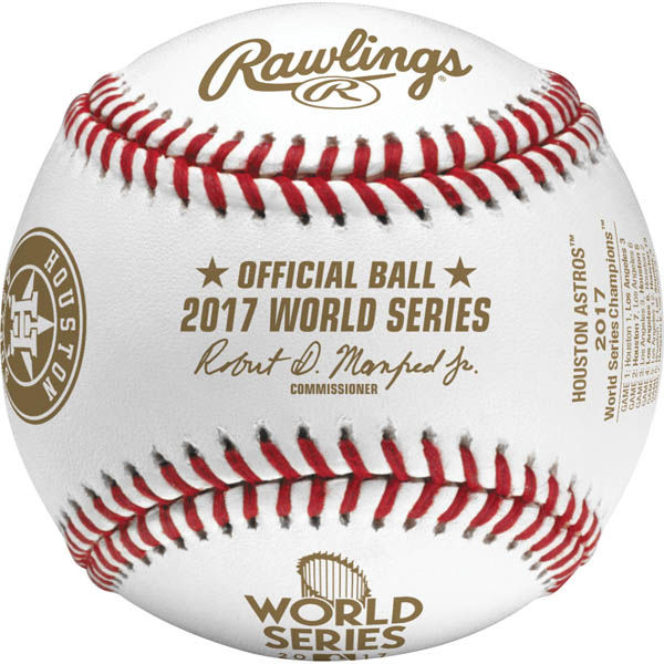 Rawlings社製 ヒューストン・アストロズ MLB 2017 ワールドシリーズ優勝記念球 紙箱入り (ボール) ローリングス 12/12入荷!
