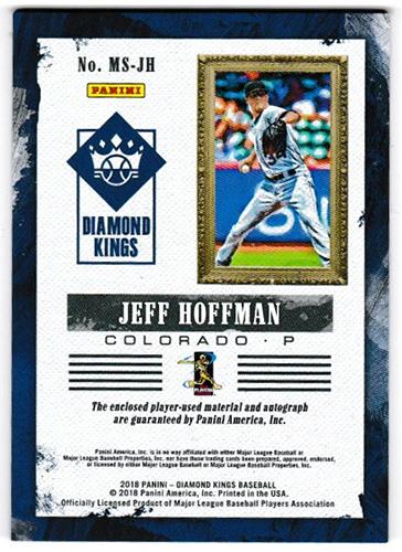ジェフ・ホフマン 2018 Panini Diamond Kings Baseball DK Materials Signatures #MS-JH 057/299 Jeff Hoffman