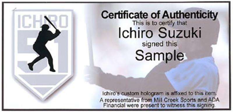 """イチロー 直筆サイン入りバット 262安打 (Ichiro Suzuki Autographed Mizuno Bat """"262 10-3-04"""" Seattle Mariners IS Holo Stock)"""