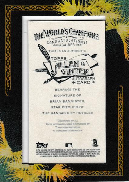 ブライアン・バニスター 2008 Topps Allen & Ginter Mini Framed Autographs / Brian Bannister