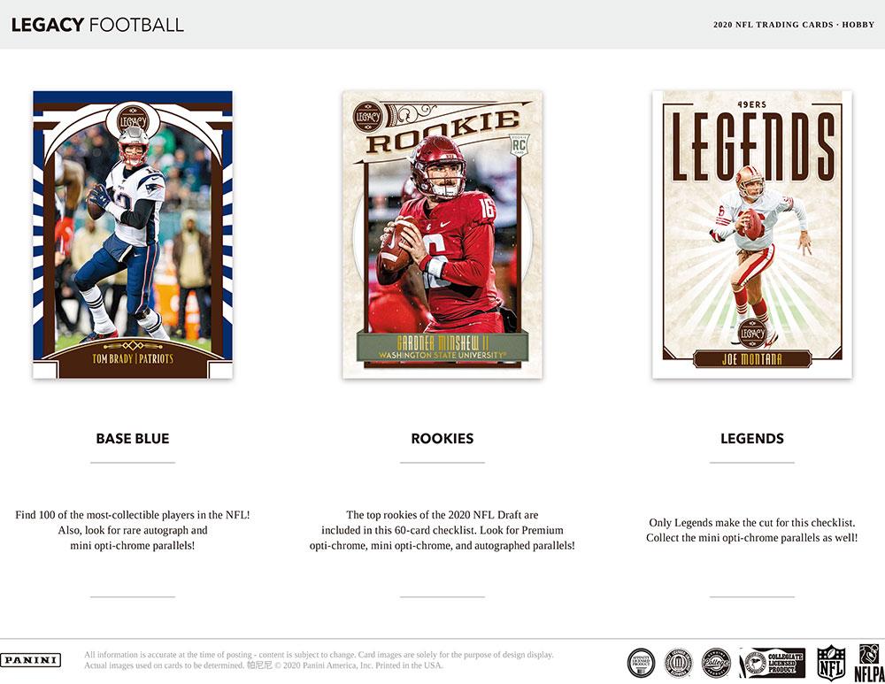 NFL 2020 Panini Legacy Football 6/26入荷