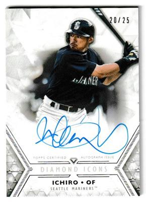 イチロー MLBカード 2018 Topps Diamond Icons Autographs 20/25 Ichiro