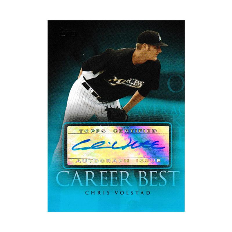 クリス・ボルスタッド 2009 Topps Career Best Autographs / Chris Volstad