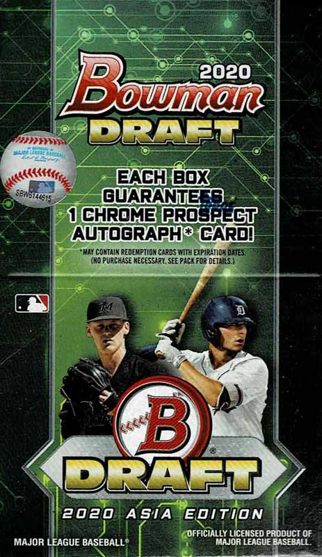 MLB 2020 Bowman Draft Asia Baseball 12/15入荷!