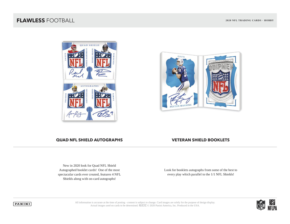 NFL 2020 Panini Flawless Football 5/7入荷!
