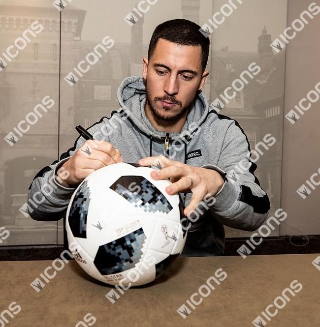 エデン・アザール 直筆サイン入りサッカーボール  2018 FIFA ワールドカップ (Eden Hazard Signed 2018 FIFA World Cup Telstar 18 Football) 3/11入荷