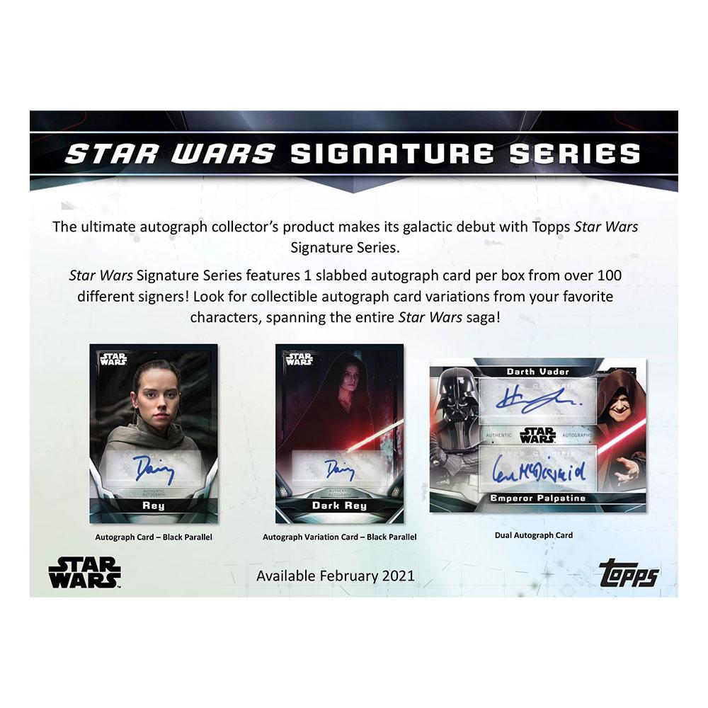 スター・ウォーズ 2021 Topps Star Wars Signature Series トレーディングカード 2/17入荷!