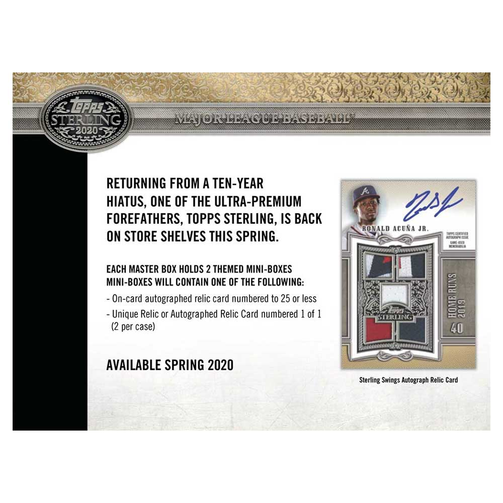 MLB 2020 Topps Sterling Baseball 7/22入荷