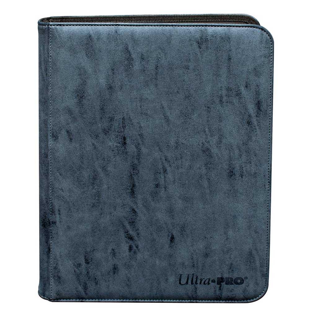 ウルトラプロ (Ultra Pro) スエードコレクション ジッパード9ポケット プレミアム プロ バインダー サファイア #85931 | Suede Collection Zippered 9-Pocket Premium PRO-Binder - Sapphire