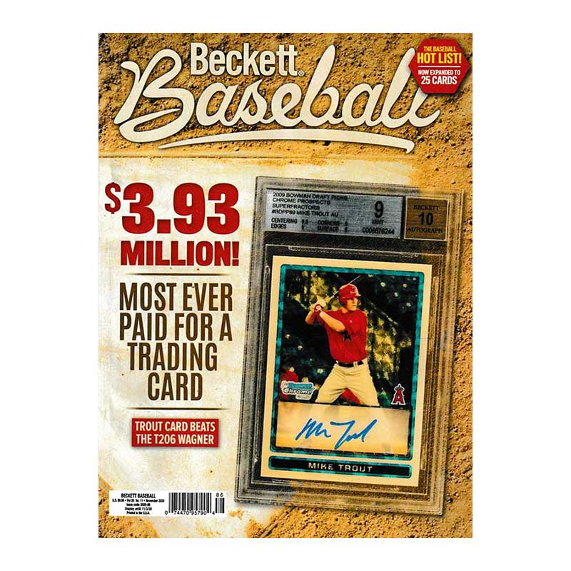 【MLBベケット】 MLB Beckett Plus #176 2020年 11月号 9/23入荷