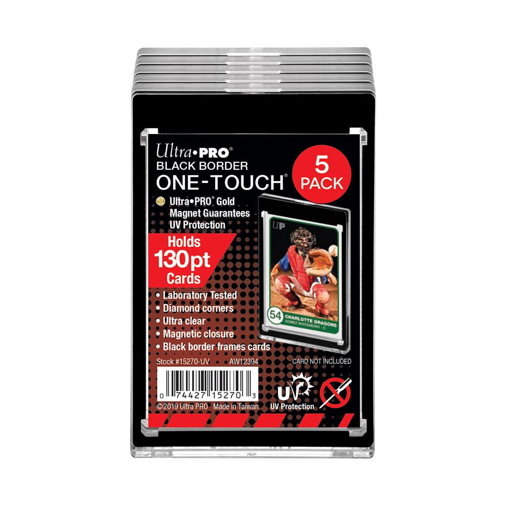 ウルトラプロ (Ultra Pro) 130PT 黒枠 UVワンタッチマグネットホルダー 3.5mm厚 5枚セット #15270-UV   130PT Black Border UV ONE-TOUCH Magnetic Holder - 5 Pack