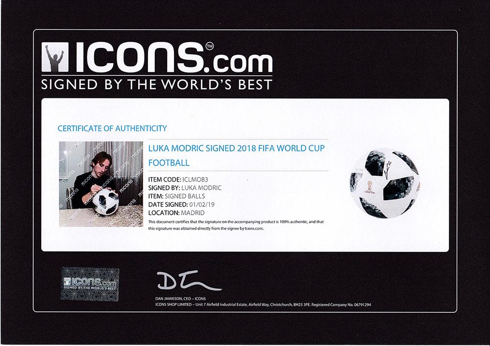 ルカ・モドリッチ 直筆サイン入りサッカーボール  2018 FIFA ワールドカップ (Luka Modric Signed 2018 FIFA World Cup Football) 2/13入荷!