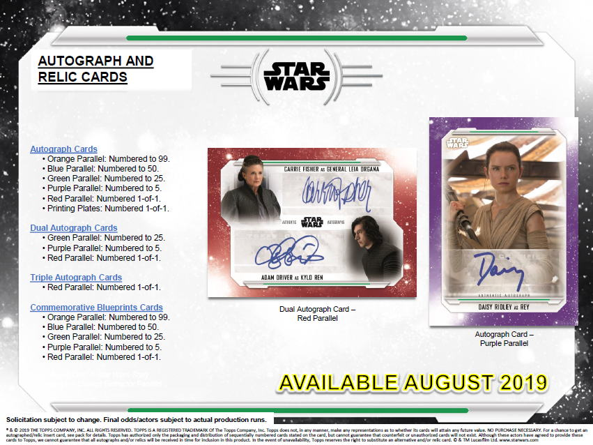 スター・ウォーズ 2019 Topps Star Wars The Skywalker Saga トレーディングカード 8/28入荷!