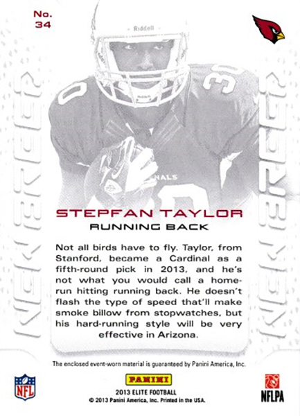 ステファン・テイラー 2013 Elite New Breed Jersey 099/399 Stepfan Taylor