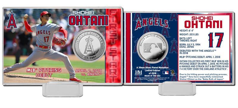 The Highland Mint (ハイランドミント) 大谷翔平 ロサンゼルス・エンゼルス MLBピッチングデビューシルバーコインカード (Shohei Ohtani MLB Pitching Debut Silver Coin Card)