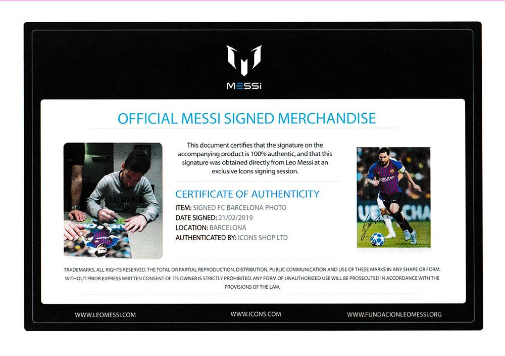 リオネル・メッシ 直筆サインフォト FC バルセロナ マスター・オブ・ザ・ボール (Lionel Messi Official Signed FC Barcelona Photo: Master of the Ball)