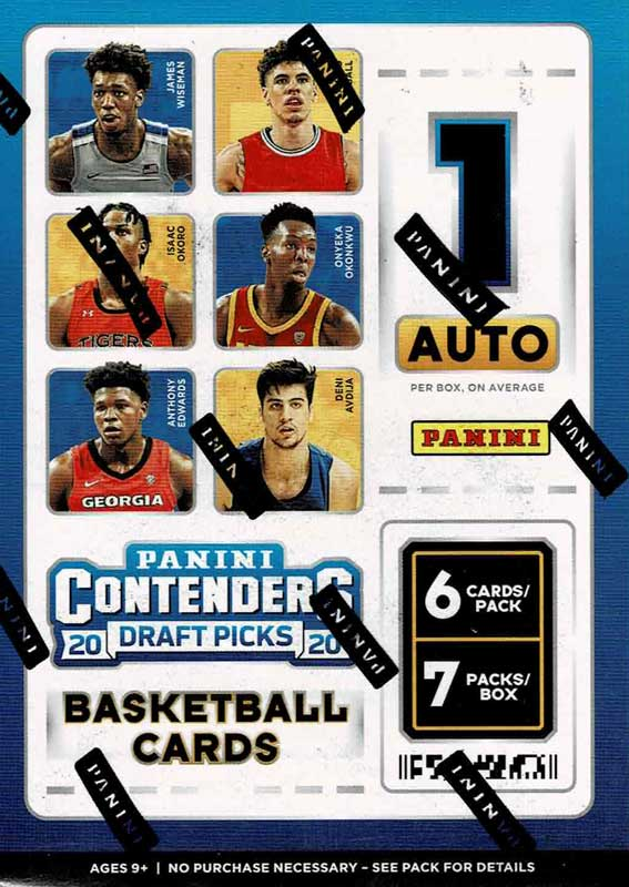 NBA 2020-21 Panini Contenders Draft Picks Collegiate Basketball Blaster Box 1/16入荷