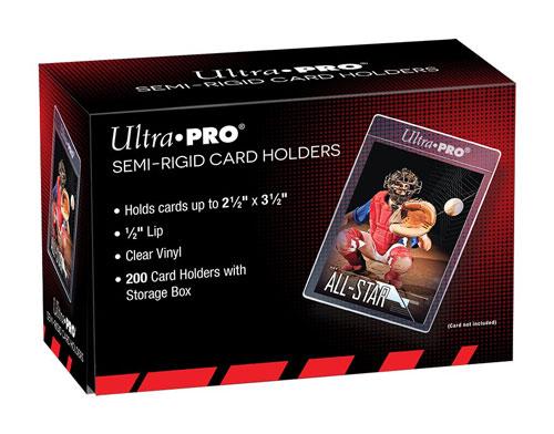 """ウルトラプロ (Ultra Pro) カードセイバー  200枚入りボックス #81150   Semi-Rigid 1/2"""" Lip Sleeves"""
