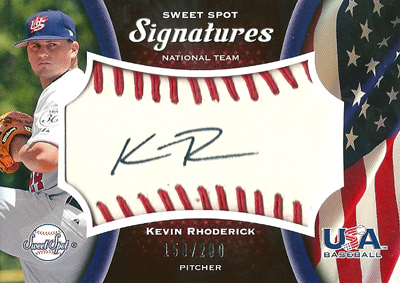 Kevin Rhoderick 2008 Sweet Sot Signatures Red Stitch Black Ink 219枚限定!(168/200) / ケビン ロディリック