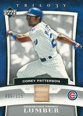 Corey Patterson 2005 UD Trilogy Generations Present Lumber Silver 115枚限定!(086/115) / コーリー パターソン