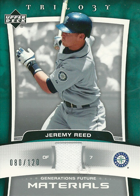 Jeremy Reed 2005 UD Trilogy Generations Future Materials Silver 120枚限定!(080/120) / ジェレミー リード