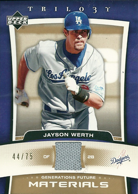 Jayson Werth 2005 UD Trilogy Generations Future Materials Gold 75枚限定!(44/75) / ジェイソン ワース