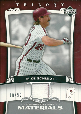 Mike Schmidt 2005 UD Trilogy Generations Past Materials Silver 99枚限定!(18/99) / マイク シュミット