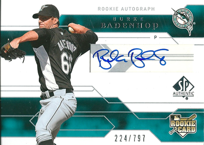 Burke Badenhop 2008 SP Authentic Rookie Autographs 797枚限定!(224/797) / バーク ベイデンホップ