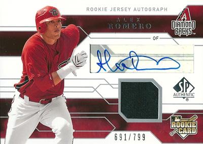 Alex Romero 2008 SP Authentic Rookie Autographs 799枚限定!(691/799) / アレックス ロメロ
