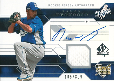Ramon Troncoso 2008 SP Authentic Rookie Autographs 399枚限定!(105/399) / ラモン トロンコソ