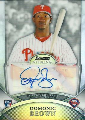 Domonic Brown 2010 Bowman Sterling Rookie Autographs Refractors 199枚限定!(137/199)/ ドミニク・ブラウン
