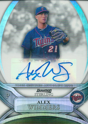Alex Wimmers 2010 Bowman Sterling Prospects Autographs Refractor 199枚限定!(147/199) / アレックス ウィマース