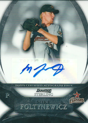 Mike Foltynewicz 2010 Bowman Sterling Prospects Autographs / マイク フォルティニュウィッツ