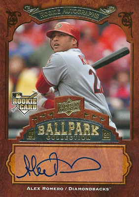 Alex Romero 2008 UD Ballpark Collection Rookie Autographs / アレックス ロメロ