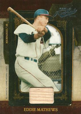 Eddie Mathews 2008 Playoff Prime Cuts Bat 99枚限定!(93/99) / エディ マシューズ