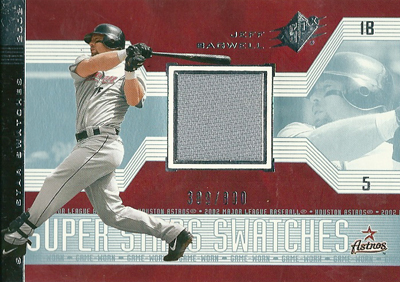 Jeff Bagwell 2002 SPx Super Star Swatches 800枚限定!(389/800) / ジェフ バグウェル