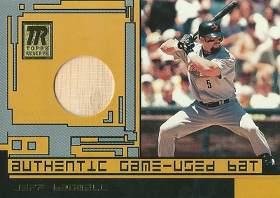 Jeff Bagwell 2001 Topps Reserve Game Used Bat / ジェフ バグウェル