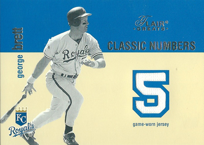 George Brett 2003 Flair Greats Classic Numbers Game Used / ジョージ ブレット