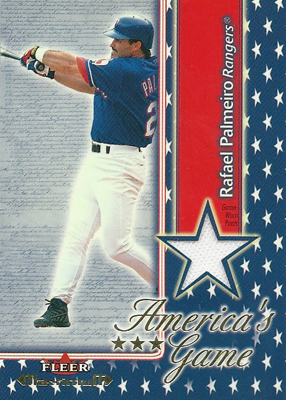 ラファエル・パルメイロ MLBカード Rafael Palmeiro 2002 Fleer Maximum Americas Game Jersey