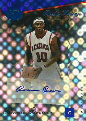 ロニー・ブリュワー NBAカード Ronnie Brewer 06/07 Bowman Elvation Rookie Writing Autographs Blue 56/79