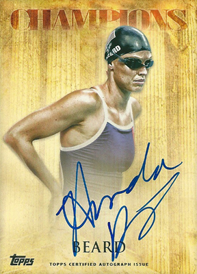 アマンダ・ビアード オリンピックカード Amanda Beard 2012 Topps U.S. Olympic Team Champions Autographs