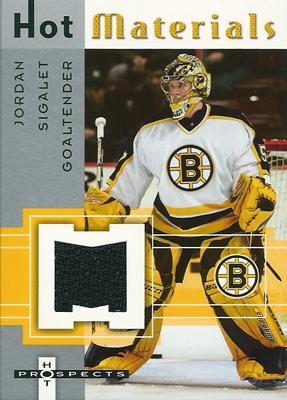 ジョーダン・シガレット NHLカード Jordan Sigalet 2005/06 Hot Prospects Hot Materials