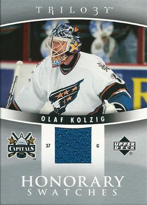 オラフ・コルジグ NHLカード Olaf Kolzig 2006/07 UD Trilogy Honorary Swatches