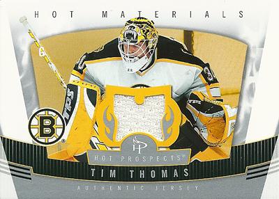 ティム・トーマス NHLカード Tim Thomas 2006/07 Hot Prospects Hot Materials
