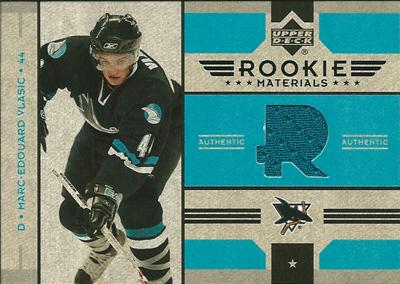 マルクエドゥアール・ブラシッチ NHLカード Marc-Edouard Vlasic 2006/07 Upper Deck Rookie Materials