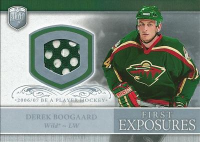 デレク・ブーガールト NHLカード Derek Boogaard 2006/07 Be A Player Portraits First Exposures