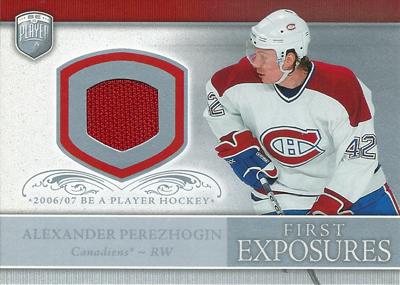 アレクサンダー・ペアリスオジン NHLカード Alexander Perezhogin 2006/07 Be A Player Portraits First Exposures