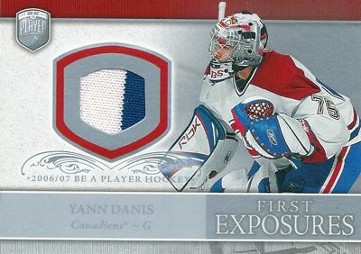 ヤン・ダニ NHLカード Yann Danis 2006/07 Be A Player Portraits First Exposures