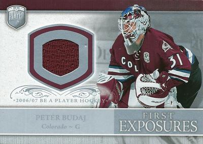 ペテル・ブダイ NHLカード Peter Budaj 2006/07 Be A Player Portraits First Exposures